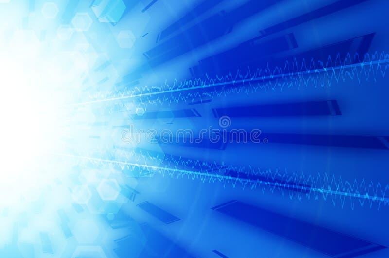 Download Abstrakcjonistycznego Tła Błękitny świateł Cieni Technologia Ilustracji - Ilustracja złożonej z kreatywnie, blank: 53782619
