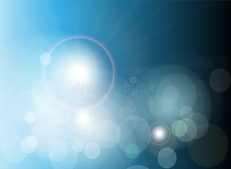 abstrakcjonistycznego tła błękitny świateł wektor