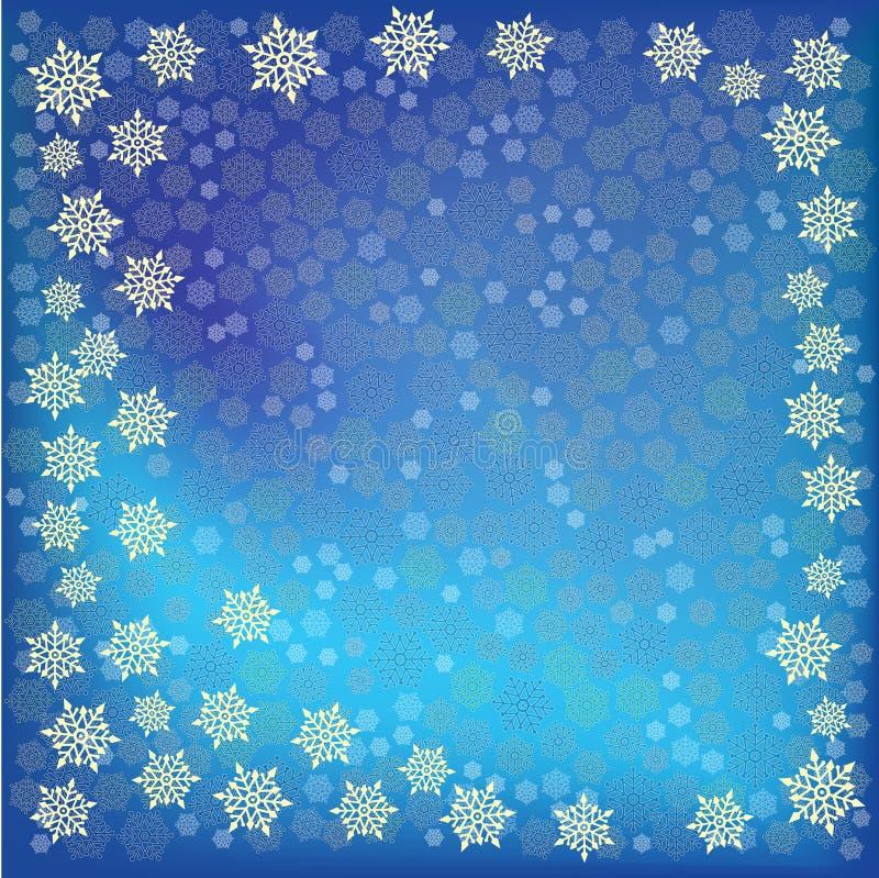 abstrakcjonistycznego tła błękitny bożych narodzeń płatek śniegu ilustracji