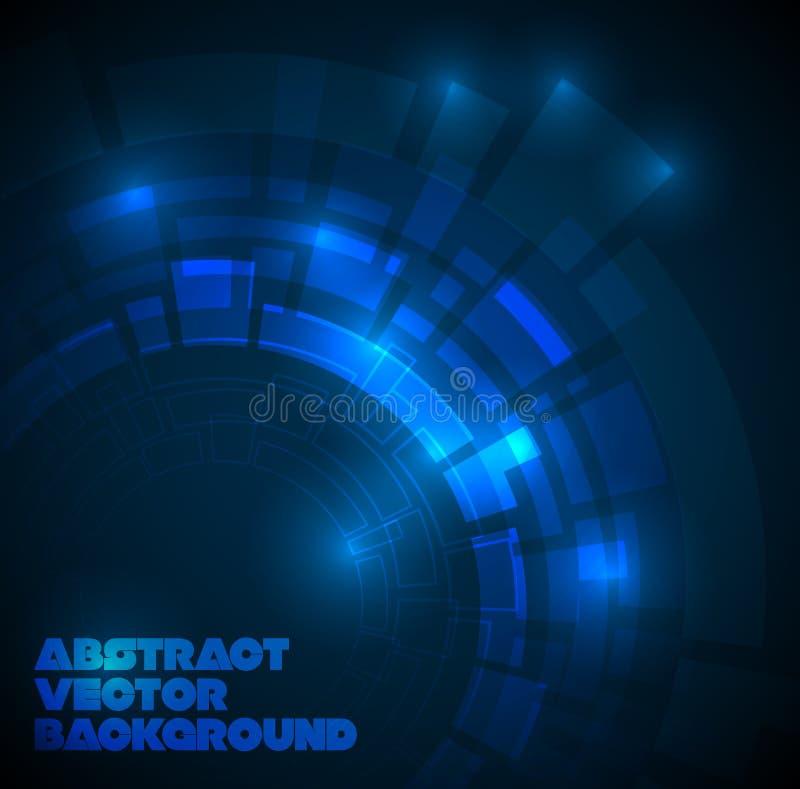 abstrakcjonistycznego tła błękitny ciemny techniczny ilustracji