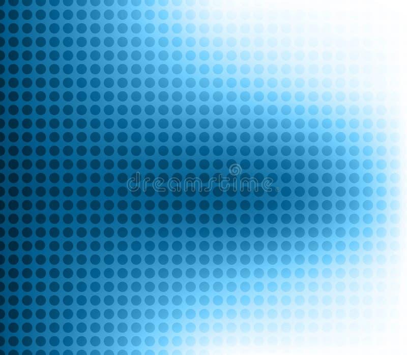 abstrakcjonistycznego tła błękitny kolorowy halftone royalty ilustracja