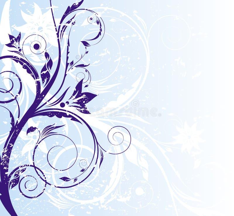 abstrakcjonistycznego tła błękitny kwiecisty royalty ilustracja