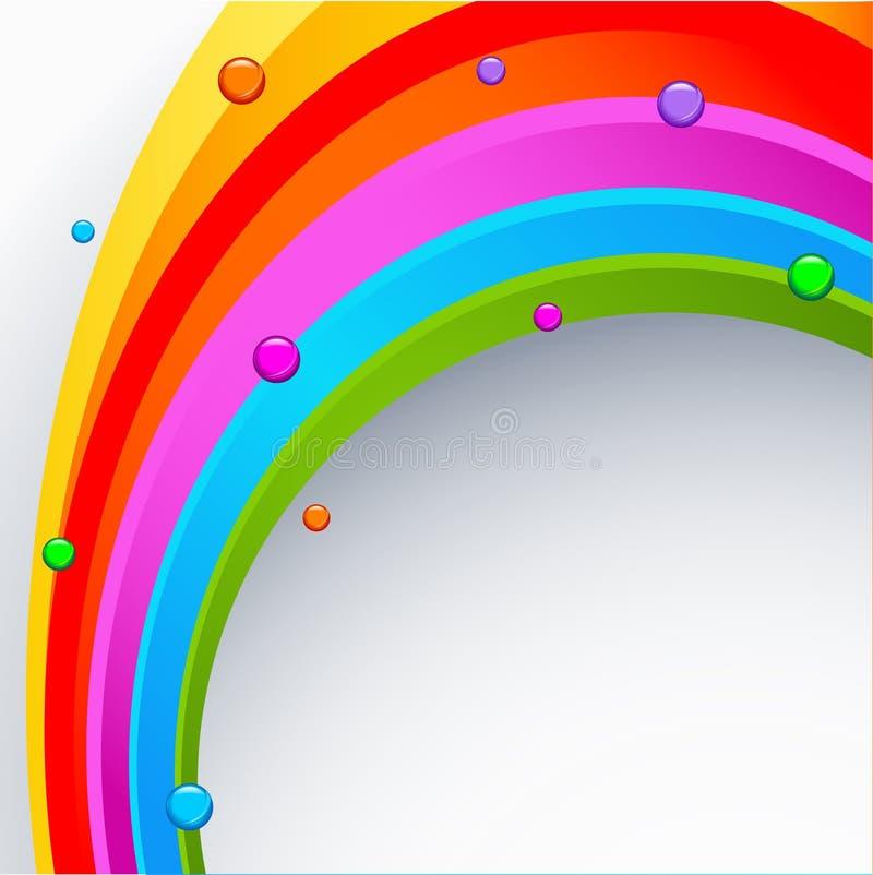 abstrakcjonistycznego tła barwiona tęcza ilustracji