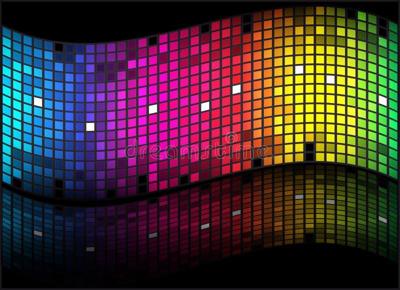 abstrakcjonistycznego tła barwiona tęcza ilustracja wektor
