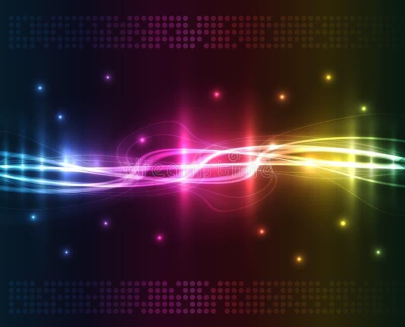 abstrakcjonistycznego tła barwioni światła ilustracji