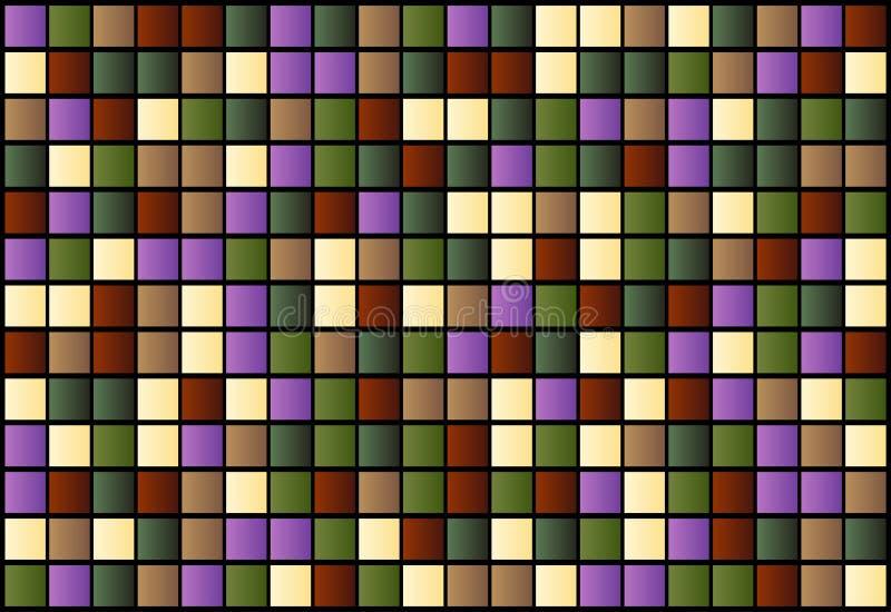abstrakcjonistycznego tła barwioni kwadraty royalty ilustracja