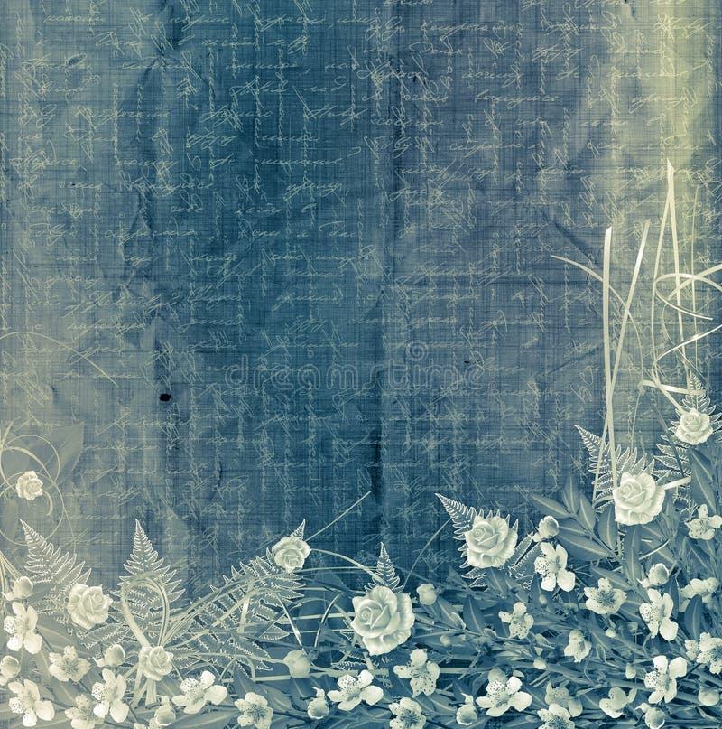 abstrakcjonistycznego tła bukieta kwiecisty writing royalty ilustracja