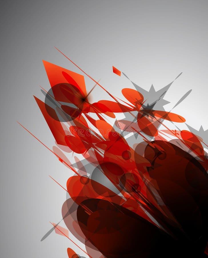 abstrakcjonistycznego tła ciemny poważny styl ilustracja wektor
