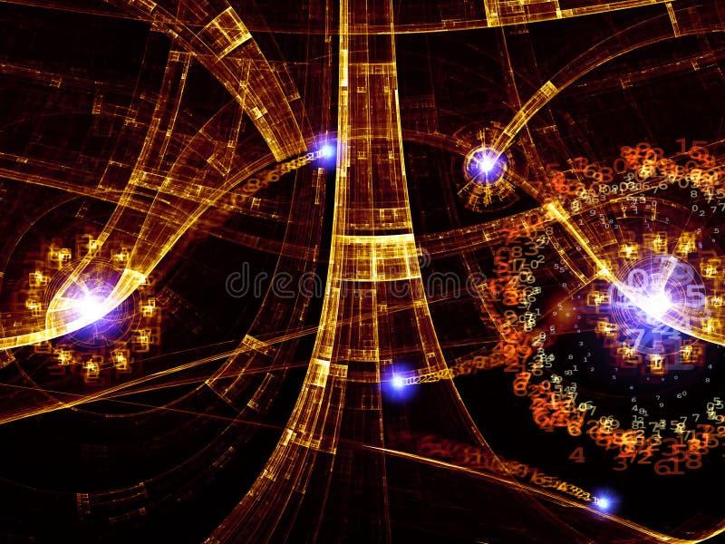abstrakcjonistycznego tła cyfrowy świat ilustracja wektor
