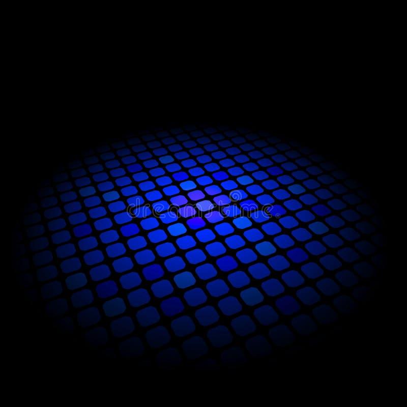 abstrakcjonistycznego tła czerń błękitny ob wzór ilustracja wektor