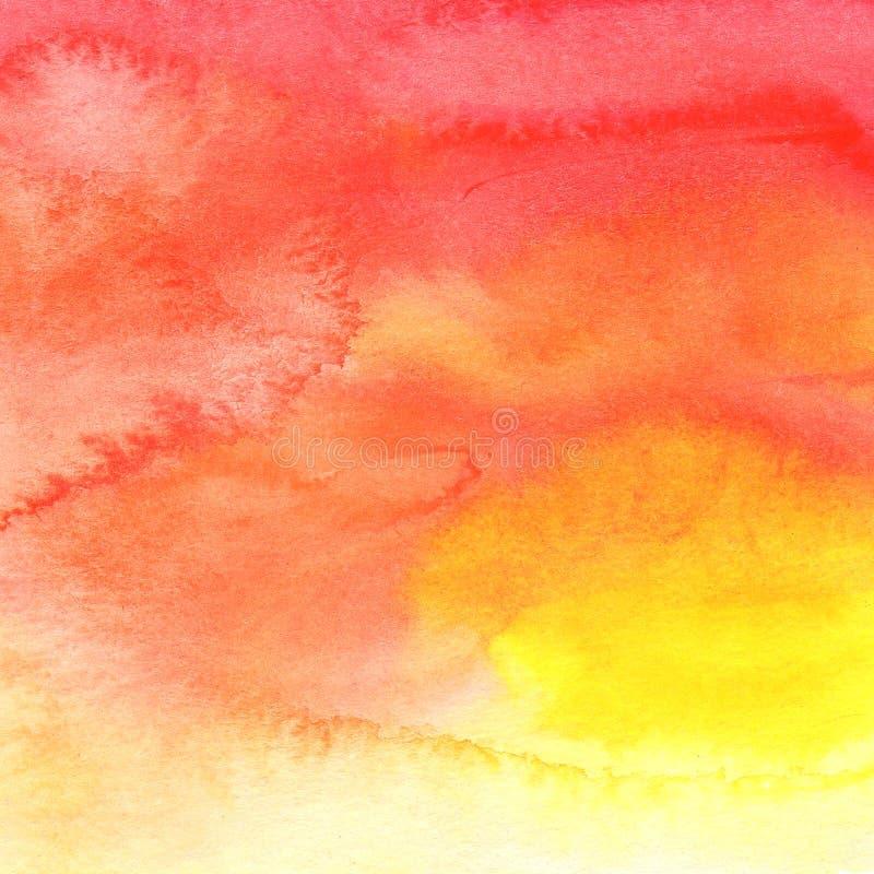 Abstrakcjonistycznego tła czerwonego korala żółty pomarańczowy kolor royalty ilustracja