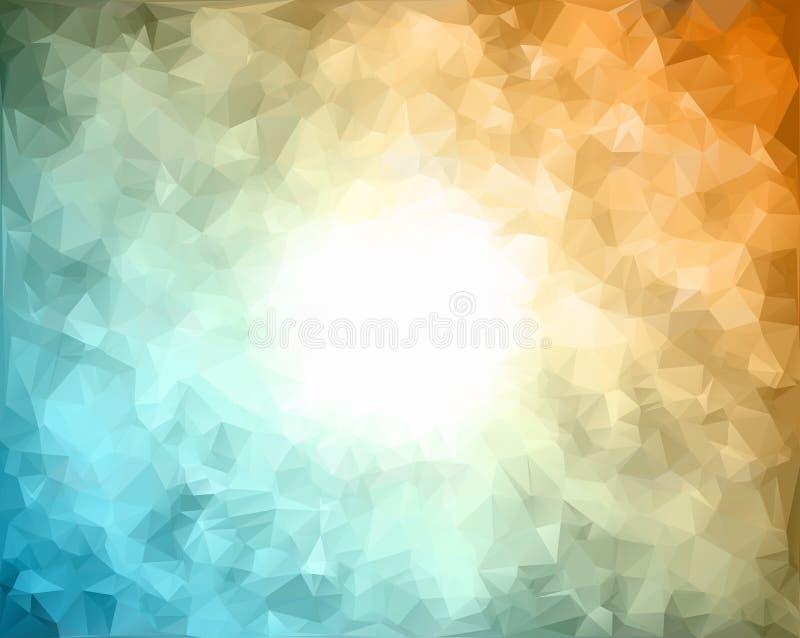 Abstrakcjonistycznego tła deseniowy składać się z trójboki raster kopia ilustracji