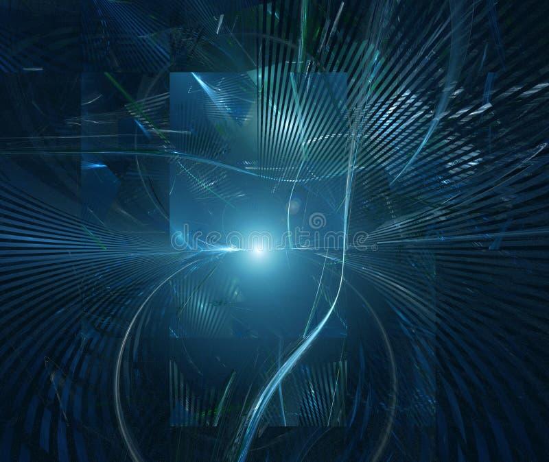 abstrakcjonistycznego tła futurystyczna technologia ilustracja wektor