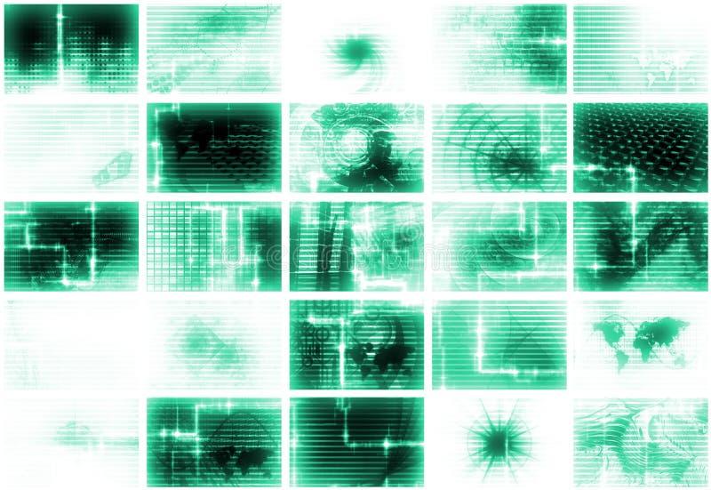 abstrakcjonistycznego tła futurystyczni środki ilustracja wektor