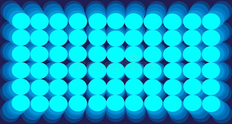 Abstrakcjonistycznego tła gradientu błękitni okręgi ilustracji