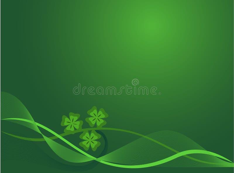 abstrakcjonistycznego tła green kwiecista ilustracja wektor