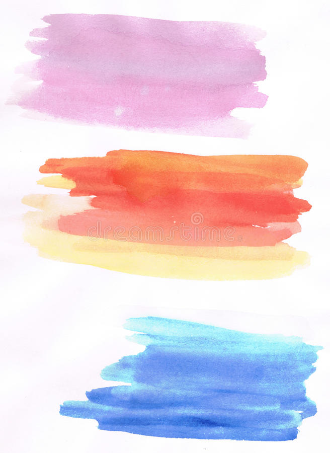 abstrakcjonistycznego tła kolorowa akwarela ilustracja wektor