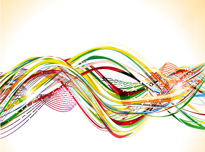 abstrakcjonistycznego tła kolorowa błyszcząca fala royalty ilustracja