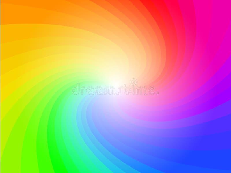 abstrakcjonistycznego tła kolorowa deseniowa tęcza royalty ilustracja