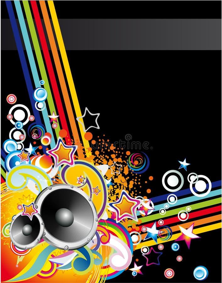 abstrakcjonistycznego tła kolorowa muzyka ilustracja wektor