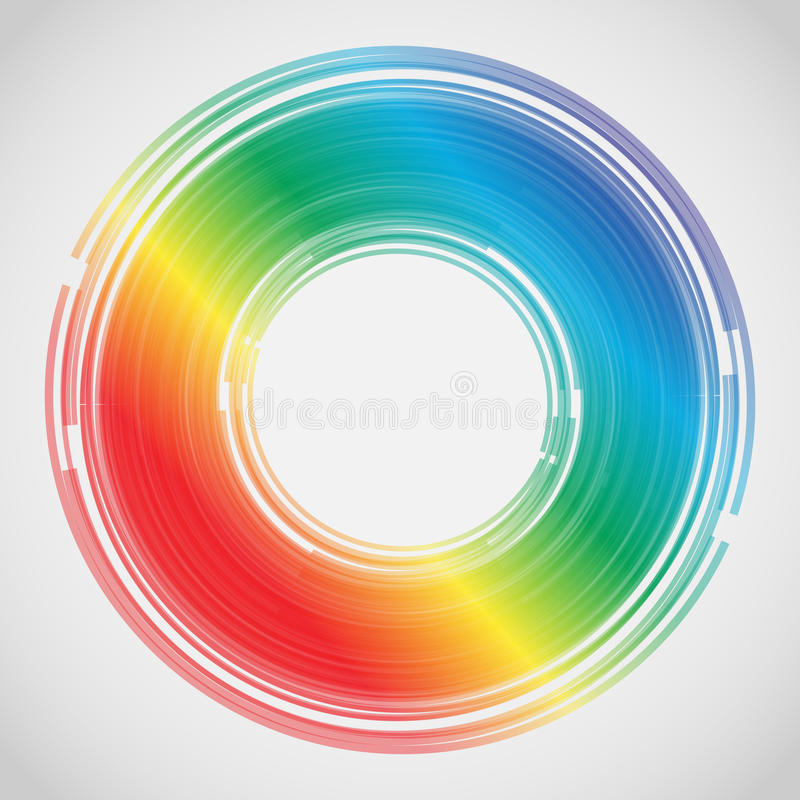 abstrakcjonistycznego tła kolorowe linie wektor royalty ilustracja