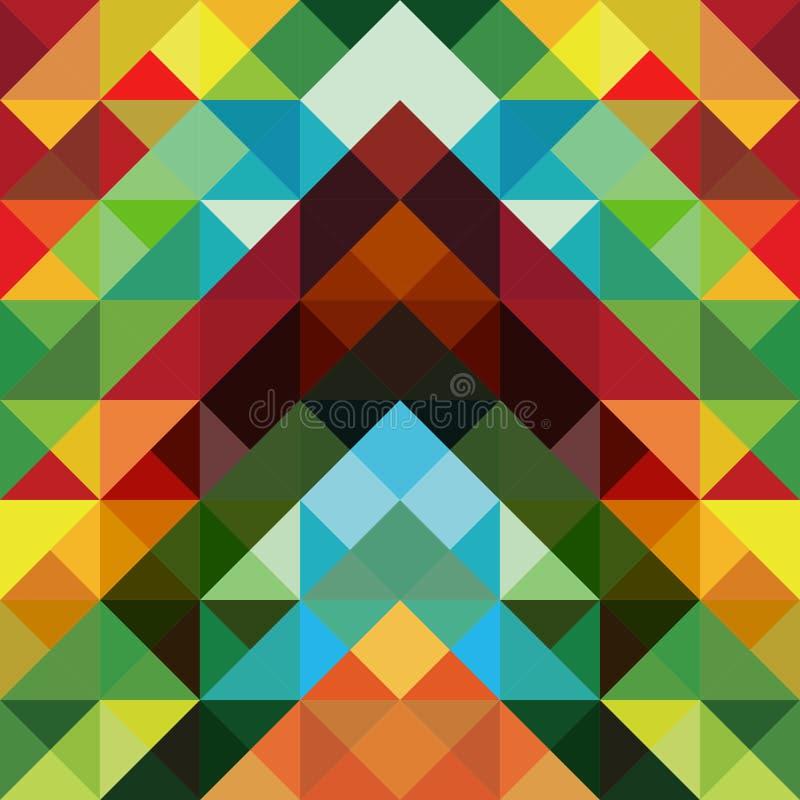 abstrakcjonistycznego tła kolorowy deseniowy trójbok ilustracja wektor