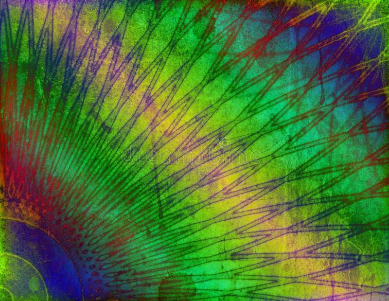 abstrakcjonistycznego tła kolorowy grunge nowożytny ilustracja wektor