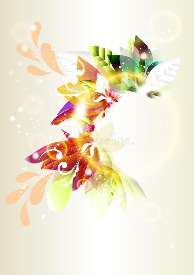 abstrakcjonistycznego tła kolorowy ramowy błyszczący wektor ilustracji