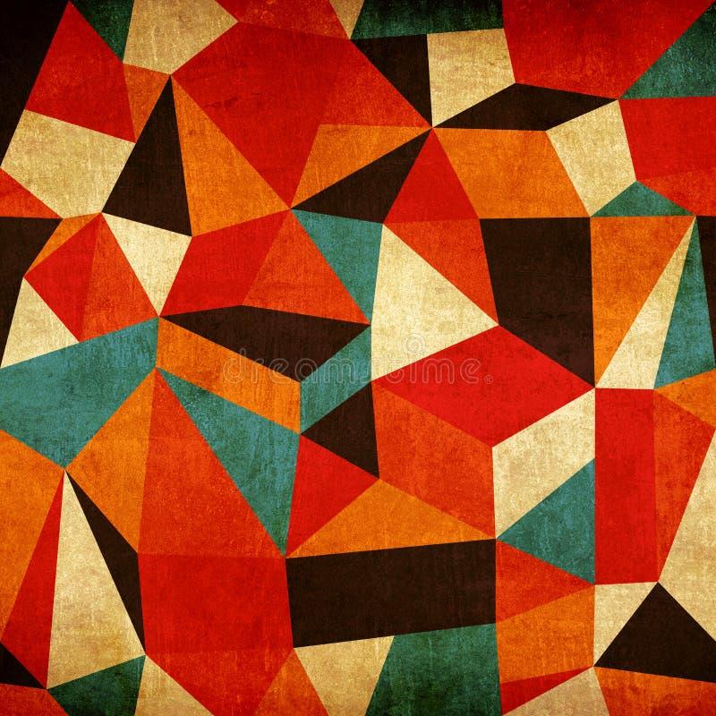 abstrakcjonistycznego tła kolorowy rocznik ilustracja wektor
