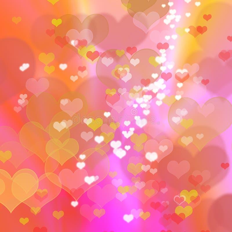 abstrakcjonistycznego tła kolorowy serce ilustracja wektor