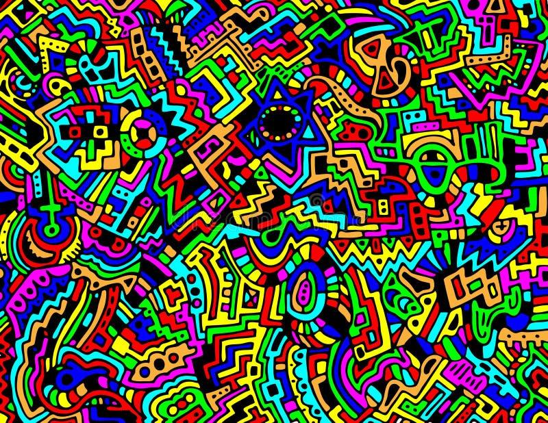 abstrakcjonistycznego tła kolorowy wektor ilustracja wektor