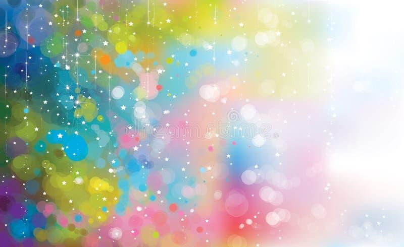 abstrakcjonistycznego tła kolorowy wektor ilustracji
