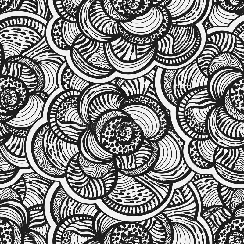 abstrakcjonistycznego tła kwieciści kwiaty bezszwowi ilustracja wektor