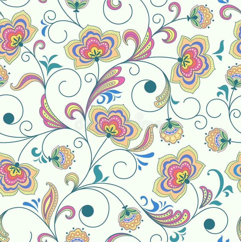abstrakcjonistycznego tła kwiecisty bezszwowy royalty ilustracja