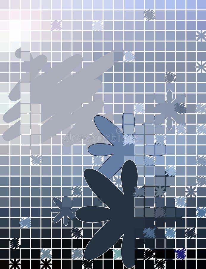 abstrakcjonistycznego tła kwiecisty mozaiki kwadrat ilustracja wektor
