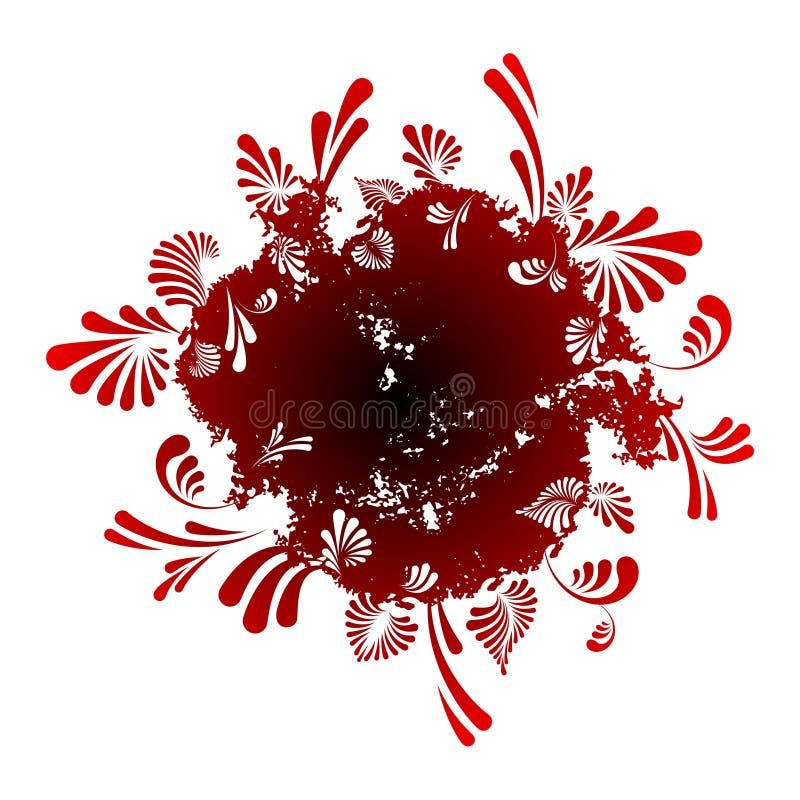 abstrakcjonistycznego tła kwiecisty round ilustracji