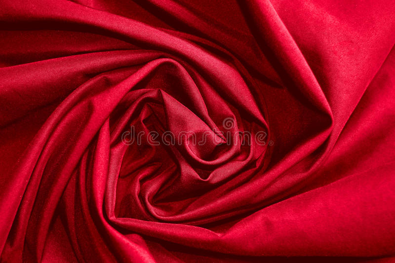 Abstrakcjonistycznego tła płótna lub okręgu kwiatu luksusowa fala lub faliści fałdy czerwona sukienna tekstura zdjęcia royalty free