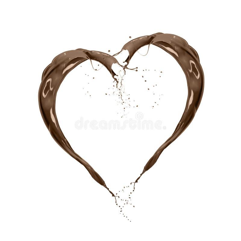 abstrakcjonistycznego tła piękny czekoladowy ciecz fotografia royalty free