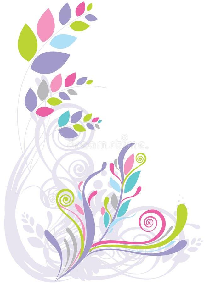 abstrakcjonistycznego tła piękny kwiecisty ilustracji
