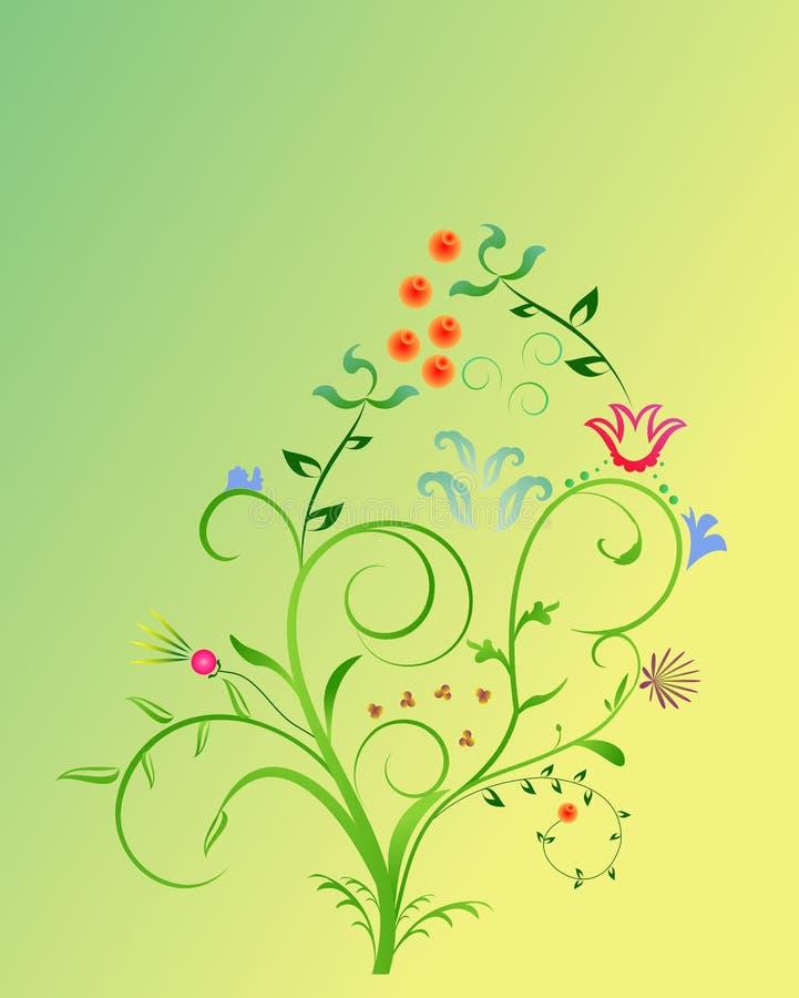 abstrakcjonistycznego tła projekta kwiecista wiosna ilustracja wektor