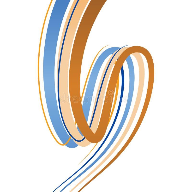 abstrakcjonistycznego tła przegięte linie ilustracji