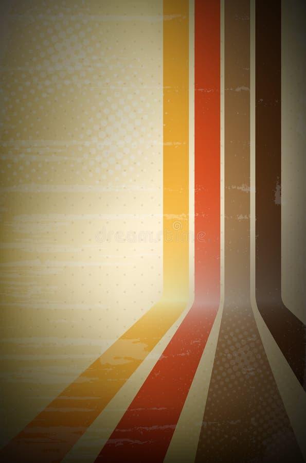 abstrakcjonistycznego tła retro lampas ilustracja wektor