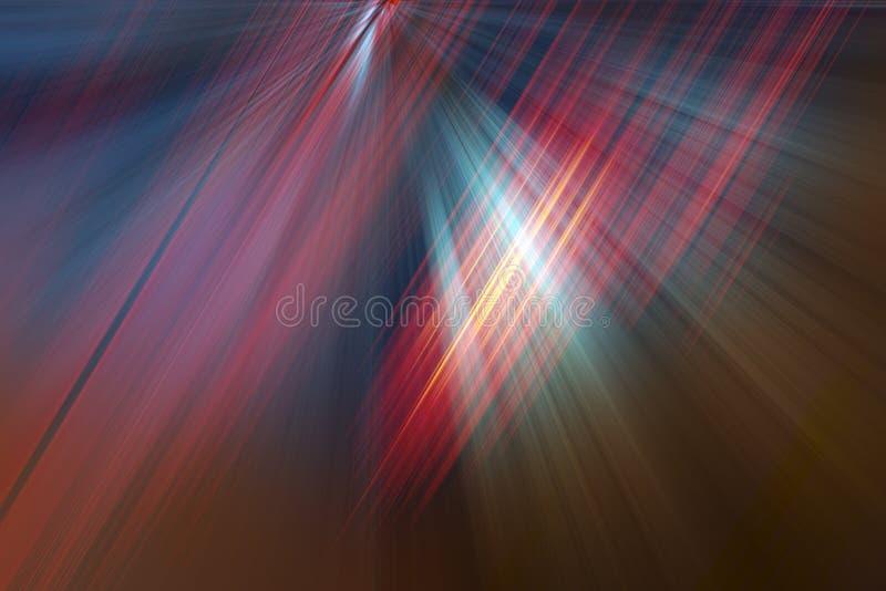 abstrakcjonistycznego tła rozmyci lekcy promienie ilustracja wektor