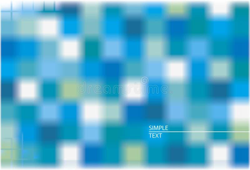 abstrakcjonistycznego tła rozproszony kwadratów wektor ilustracji
