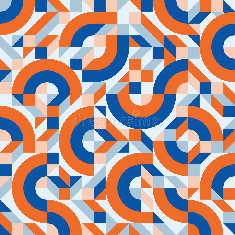 Abstrakcjonistycznego tła wektorowy bezszwowy wzór w moda retro stylu Memphis projekta włoska grupa 80s ilustracji