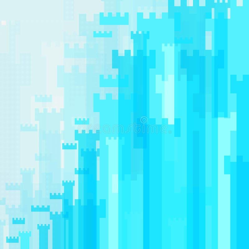 Abstrakcjonistycznego tła wysokości błękitny kasztel zdjęcia royalty free