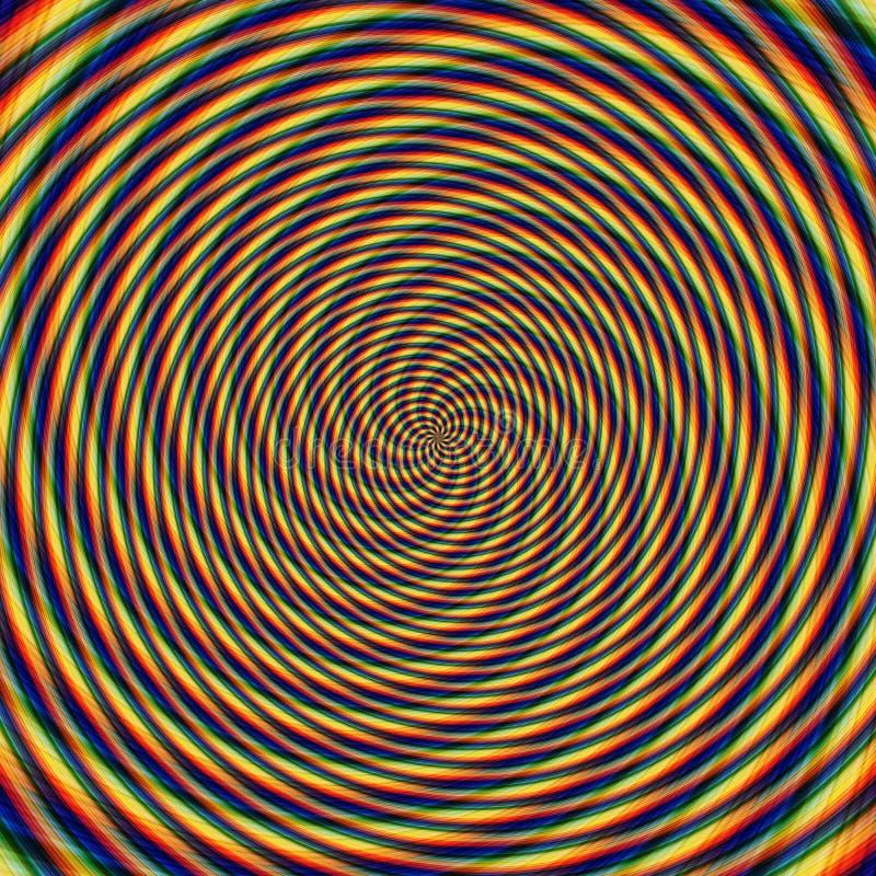 Abstrakcjonistycznego tła złudzenia hipnotyczna ilustracja, atrakcyjna obrazy stock