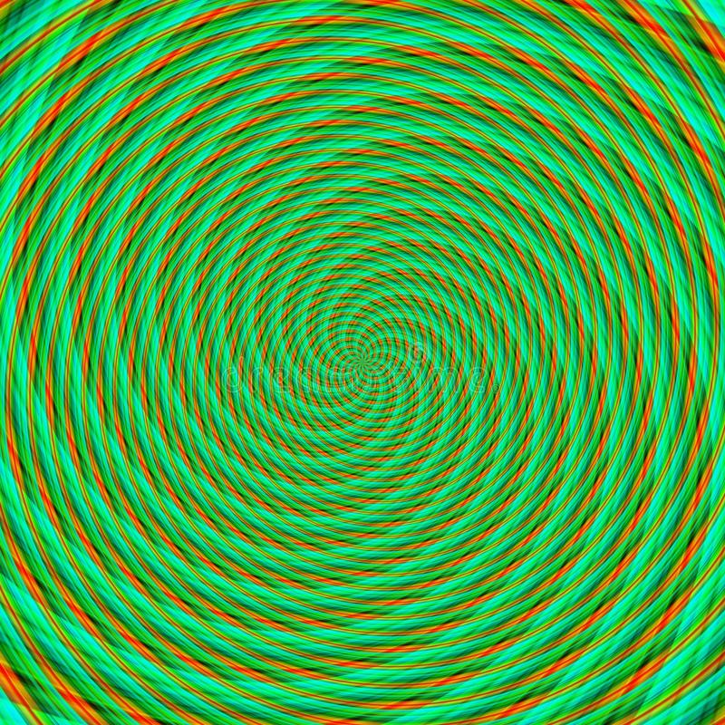 Abstrakcjonistycznego tła złudzenia hipnotyczna ilustracja, zwodniczo łudzenie ilustracji
