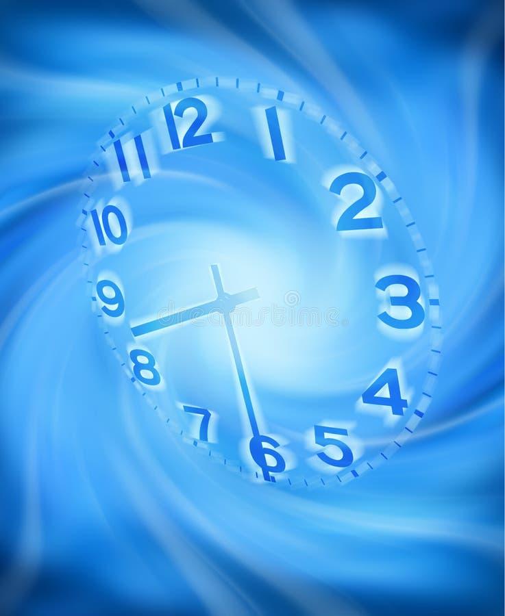abstrakcjonistycznego tła zegarowy czas royalty ilustracja