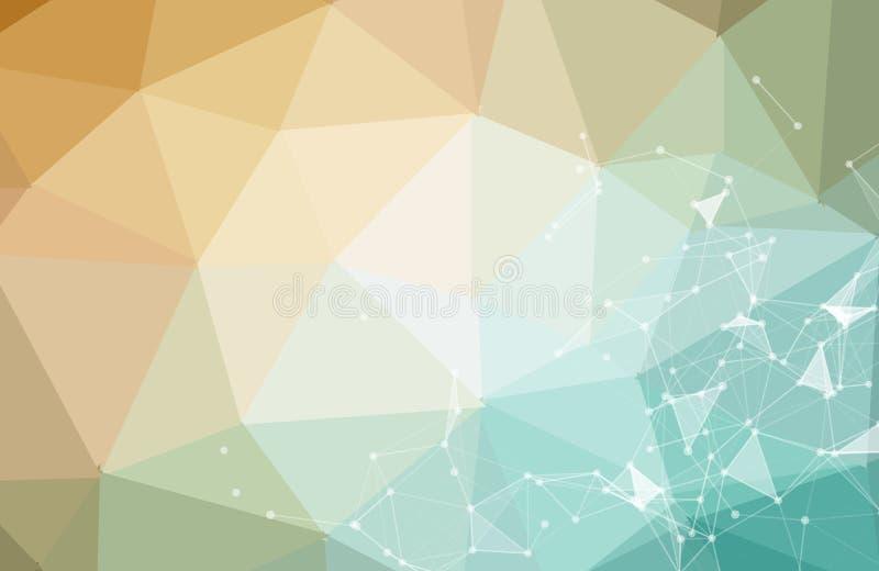Abstrakcjonistycznego technologii nauki tła pojęcia piękne kolorowe podłączeniowe cyfrowe geometryczne linie i kropki komunikacja ilustracja wektor